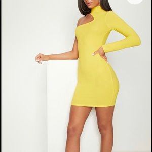 Pretty Little Thing Yellow Bodycon Dress